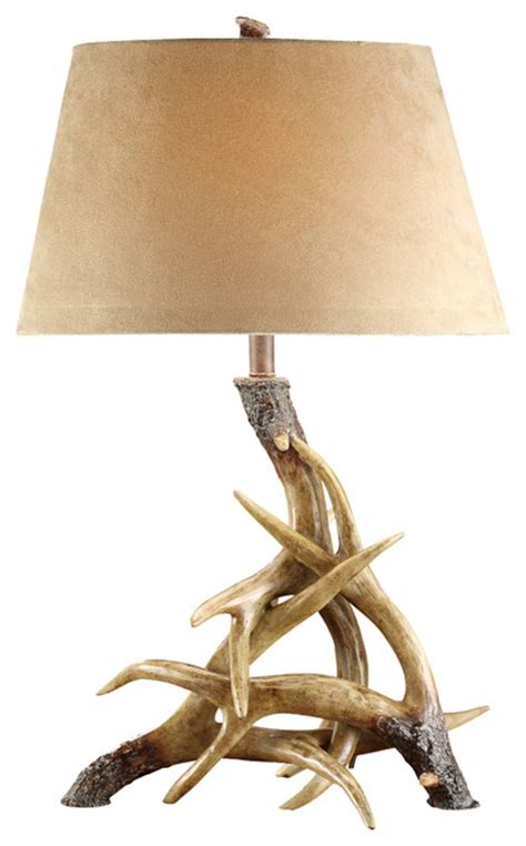 Funky Outdoor Decor Antler Table Lamp Rustic Table Lamps By Chachkies