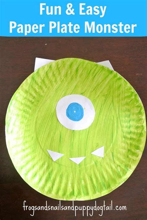 Toddler Craft Ideas Paper Plates - paper plate monsters craft fspdt