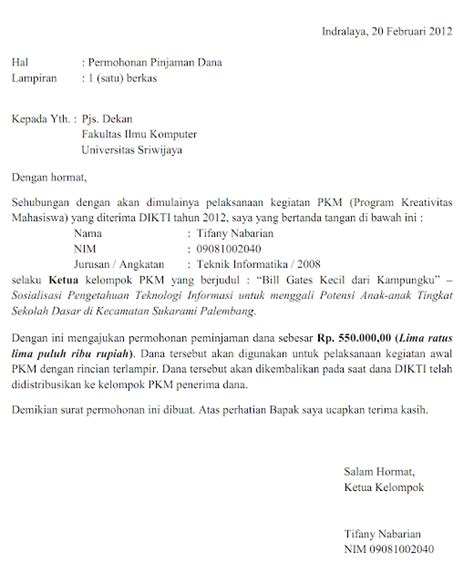 Cara Membuat Surat Kuasa Pengambilan Berkas by Contoh Surat Permohonan Pinjaman Contoh Surat