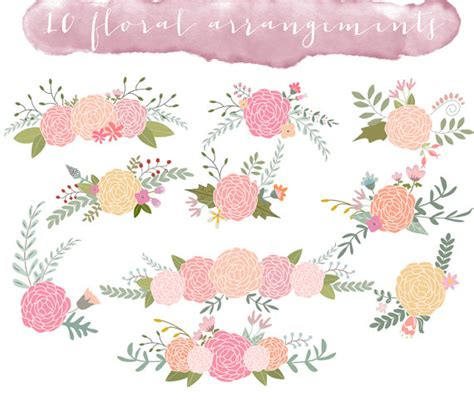 Wedding Flower Clipart by Floral Clip Wedding Clipart Ranunculus Flowers