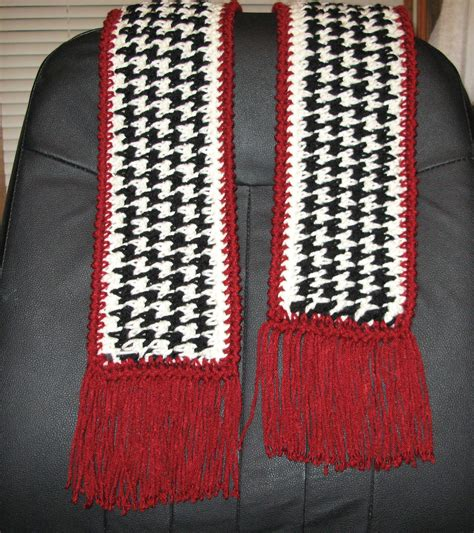 scarf pattern etsy houndstooth scarf pdf pattern to crochet by ritagibson on etsy