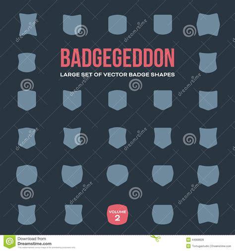 design elements volume set of vintage badge shapes vol 2 stock vector image