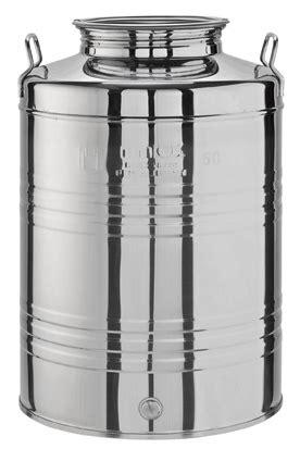 contenitori acciaio per alimenti contenitori acciaio inox per olio ed alimenti lt 50