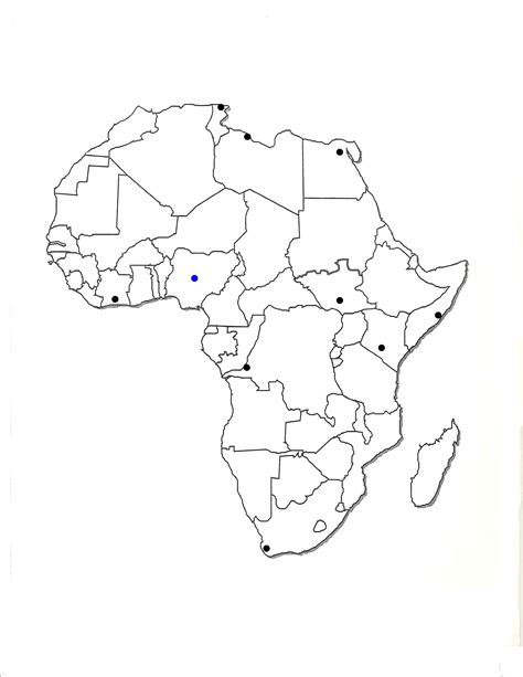 blank political map of africa my