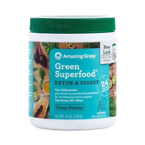 Pros Cons Green Superfood Detox by Detox Digest Green Superfood Powder Thrive Market