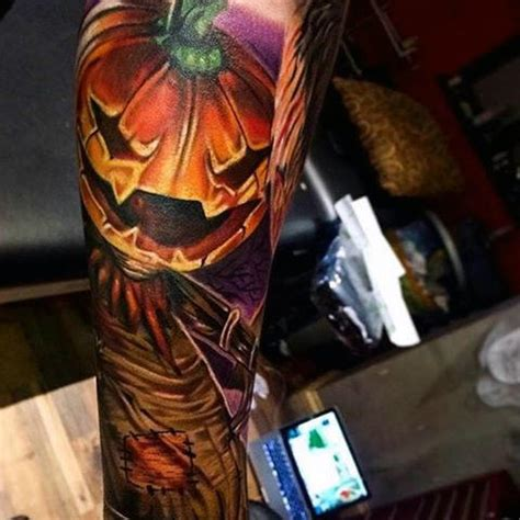 80 halloween tattoo designs for men ghoulish grandeur
