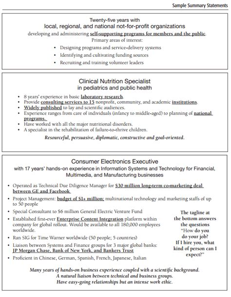 professional summary resume examples resume example and free