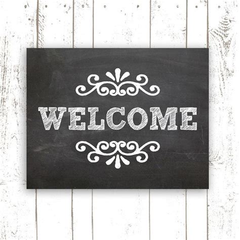 printable welcome poster chalkboard art print 11x14 inch printable welcome sign