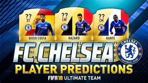chelsea fifa 18 fifa 18 chelsea ratings predictions fut 18 players card