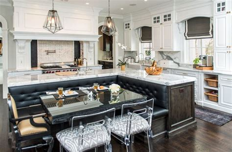 t shaped kitchen island with wooden countertop home beautiful kitchen islands with bench seating designing idea
