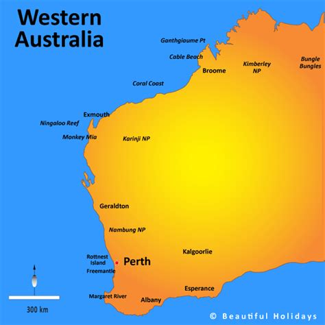 map of western australia western australia map showing attractions accommodation