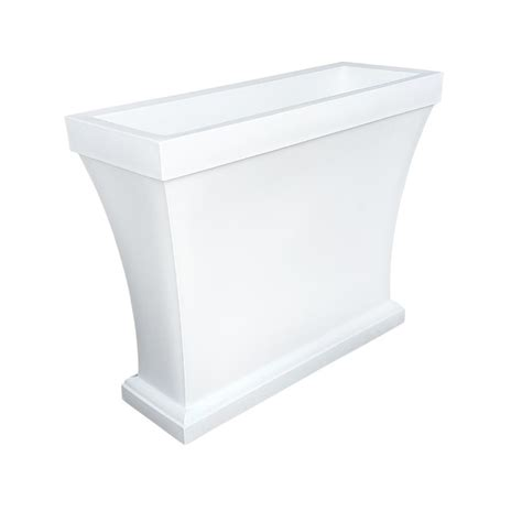 Plastic Wall Planter by Pride Garden Products Mela 8 1 2 In White Plastic Wall