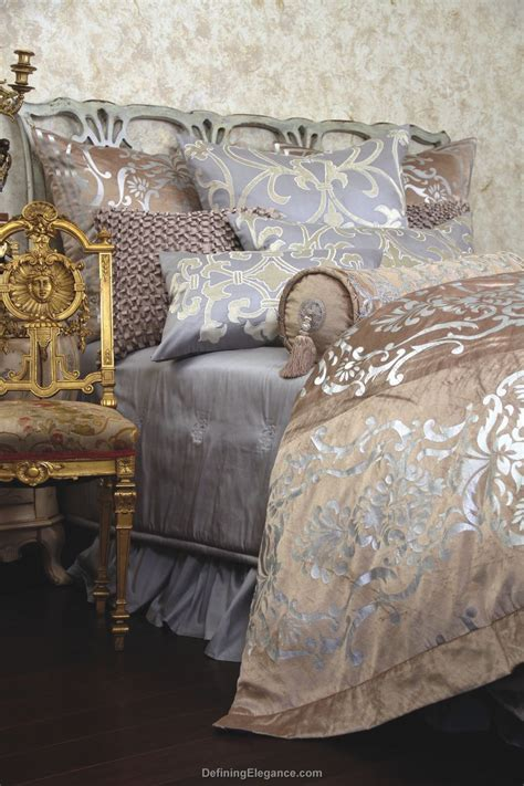 silver coverlet discontinued lili alessandra louie chagne velvet with
