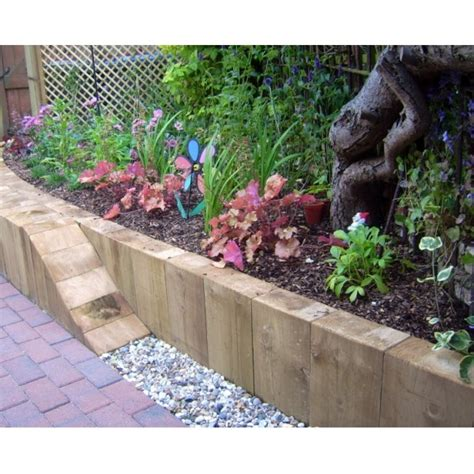 Sleeper Raised Garden Bed by 1000 Images About Sleepers I Like On Raised Garden Beds Furniture And Reclaimed