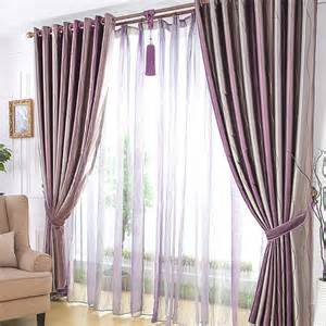 awesome Grey White And Purple Living Room #4: Appealing-Living-Room-or-Bedroom-Suitable-Line-Shapes-Vintage-Curtains-in-Dark-Purple-CHS023-1.jpg