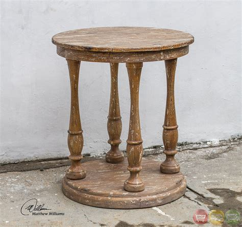 rustic wood accent tables bardeau country rustic weathered wooden accent table 25628