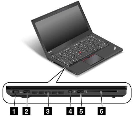 Laptop Lenovo Thinkpad T450s left side view thinkpad t450s lenovo support