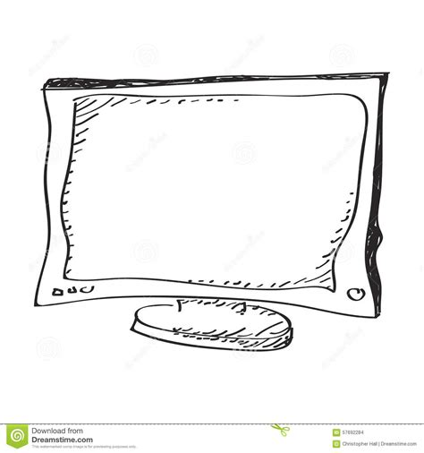 doodle tv simple doodle of a television stock vector image 57692284