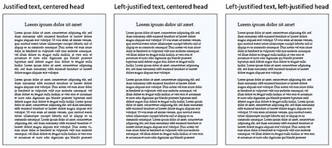 book layout justification legibility web style guide 3