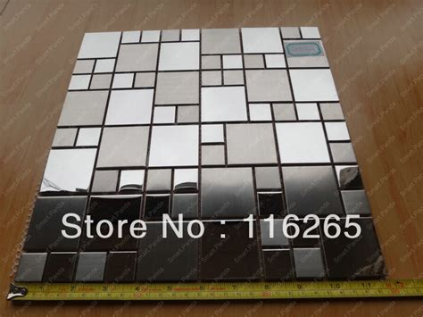 10 x 10 square feet aliexpress com buy stainless steel mosaic tile