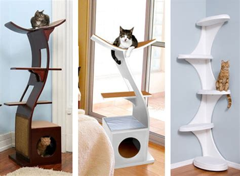 stylish cat tree modern cat tree tower home decor furniture