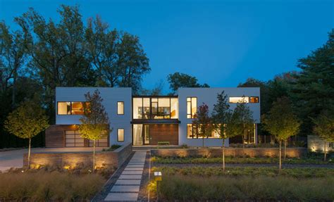 modern home design laurel md robert m gurney designs a modular light filled house near