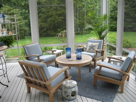 Bright eze breeze technique boston traditional porch innovative designs with area rug blue