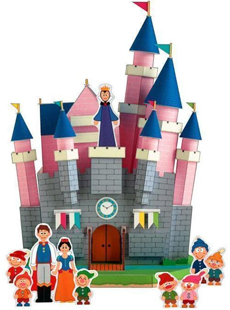 Canon Papercraft Castle Of Snow White Free Paper - modelo de papel do castelo da branca de neve 171 de