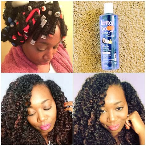 curling puddingusing rods changing my curl pattern using lottabody setting lotion