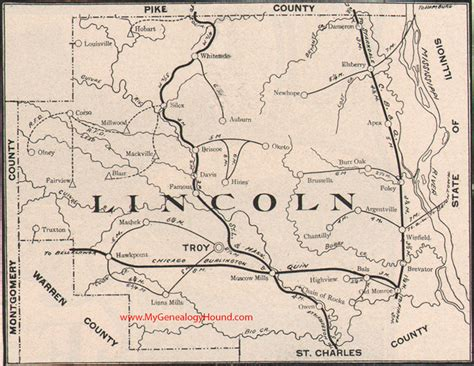 Lincoln County, Missouri 1904 Map