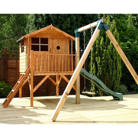 playhouse and swing tower playhouse slide and swing 5ft x 7ft