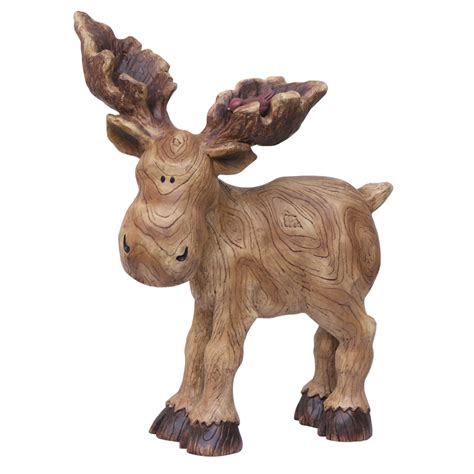 statues for home decor shop 15 in moose and bird garden statue at lowes com