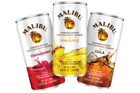 malibu what to mix it with malibu pre mixed drinks 2013 04 11 beverage industry