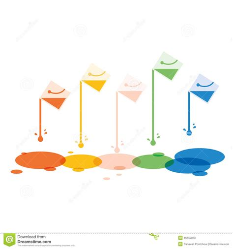 design free stock photo illustration of a colorful paint bucket with colorful drop background stock image
