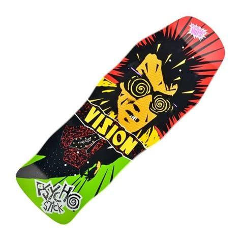 concave skateboard deck vision skateboards psycho stick modern concave reissue