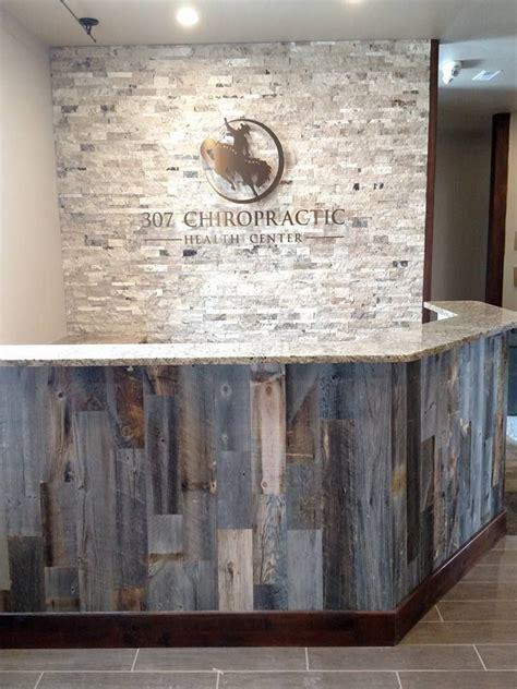 reclaimed wood front desk reclaimed weathered wood front desk desks and woods