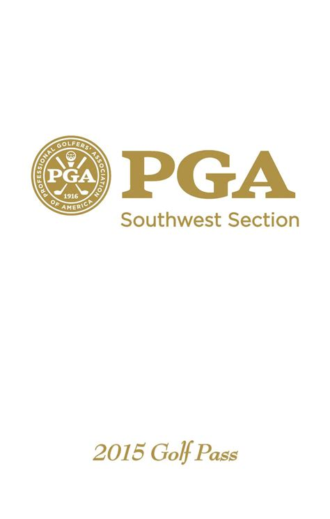 sw section pga 2015 swspga golf pass coupon book by southwest section pga