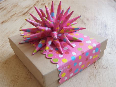 How To Make A Bow With Wrapping Paper - handmade gifts wrap gift how to make a paper spike bow