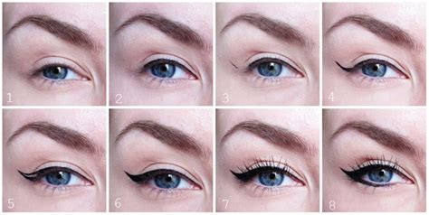 eyeliner tutorial thin wing eyeliner tutorial makeup pinterest