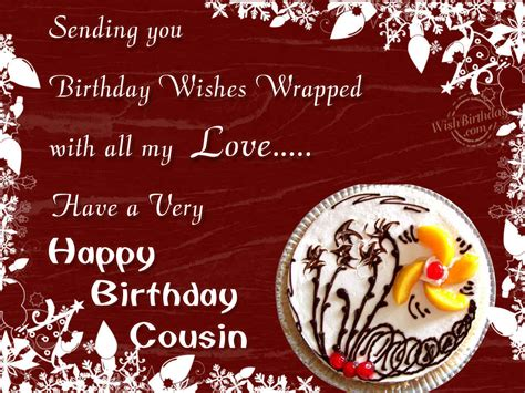 Happy Birthday Wishes For Cousin Birthday Wishes For Cousin Wishbirthday Com