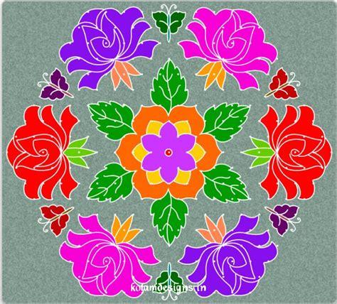 dot pattern rangoli flower kolam with dots jpg 743 215 671 rangoli pinterest