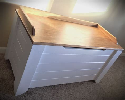 farmhouse style toy box blanket chest ana white