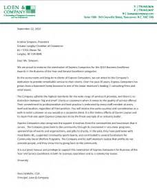 Nomination Letter Template Letter Of Nomination Langley Chamber Of Commerce