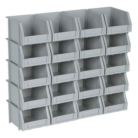 20 poly bins and rails