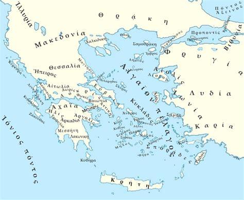 grecia antica grecia regioni mappa