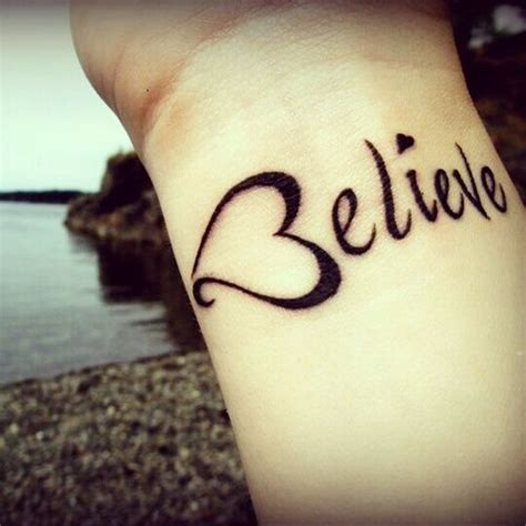 small believe tattoos with tattoos