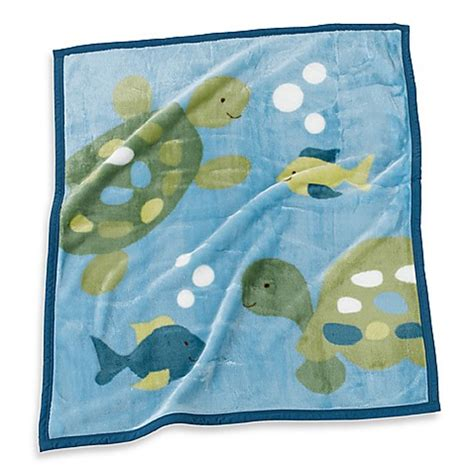 Cocalo Turtle Reef Crib Bedding Cocalo Baby 174 Turtle Reef Soft And Cozy Blanket Bed Bath Beyond