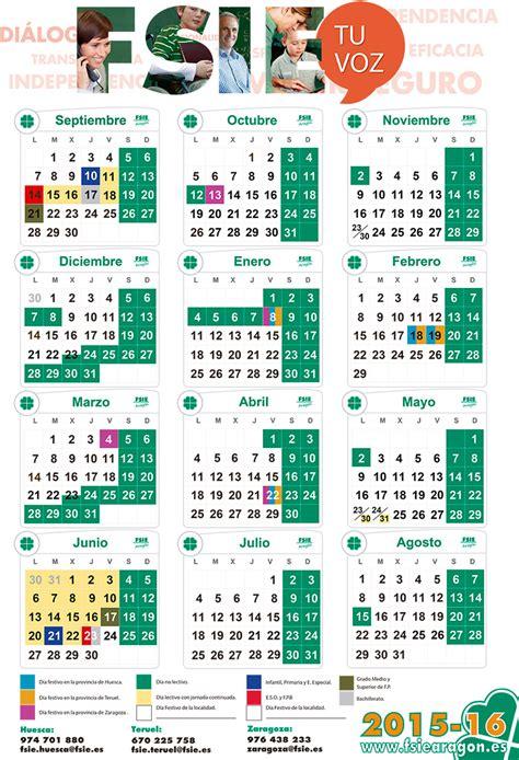 Calendario Escolar Aragon 2015 Pdf Calendario Escolar 2015 16 Para Descargar En Pdf