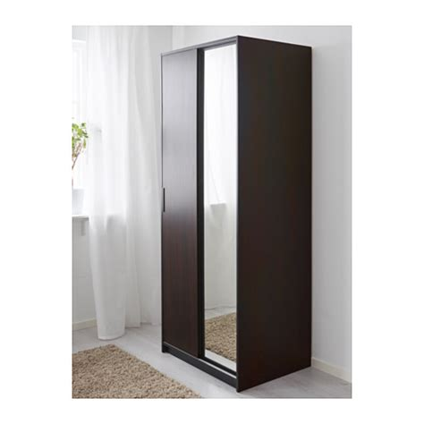 mirror wardrobe doors ikea trysil wardrobe brown mirror glass 79x61x202 cm ikea