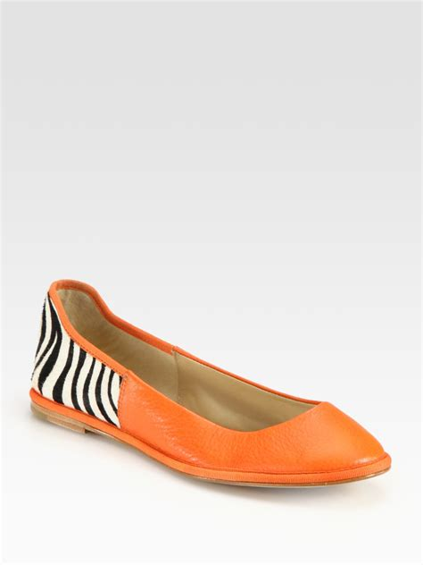 zebra print flat shoes diane furstenberg botswana leather and zebra print